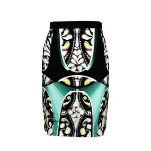Peter Pilotto Abstract Multicolor Pencil Skirt 10
